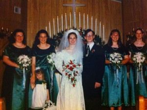 All the bride's maids in our wedding were my best friends.
