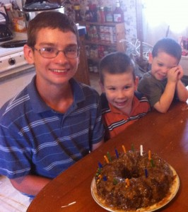15 Candles on Joshua's German Chocolate Cake