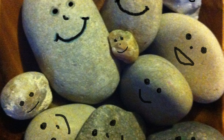 bowl of smiling rocks